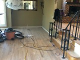 Crowne Point hardwood refinish mid-project